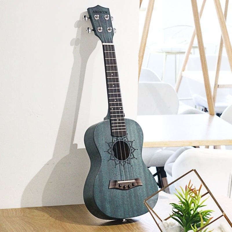 26 Gift Girl male female Kerry female adult guitar 23 inch four string ukulele black Hawaii