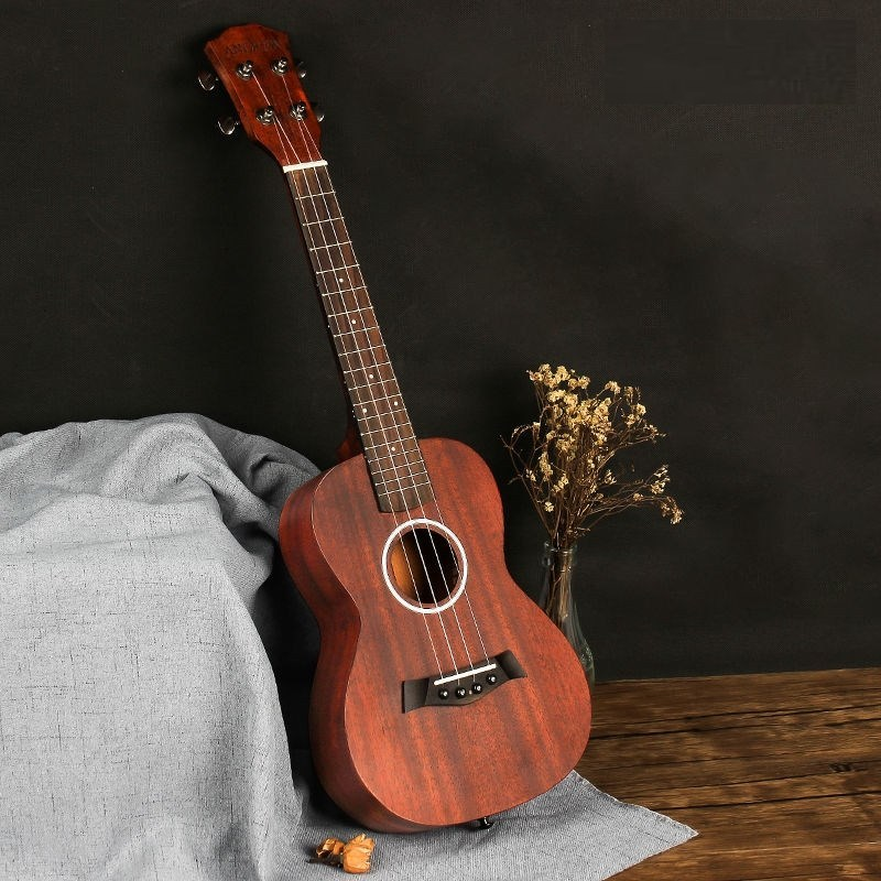 Yukriri mahogany accompaniment yuri26 personality four string instrument, Kerry Hawaiian guitar four string