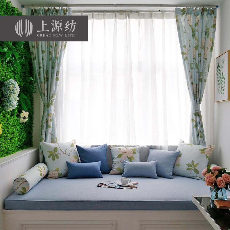 飘窗垫 窗台垫 榻榻米垫子加厚美式坐垫定做简约现代海绵阳台垫子