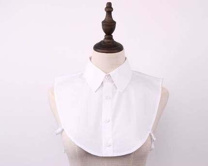 假领子女百搭假领衬衣领白色披肩新款纯棉女士工作服荷叶领卫衣