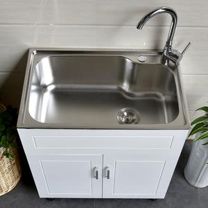 多尺寸洗衣柜不锈钢洗衣池洗衣槽洗脸盆浴室柜实木烤漆洗衣柜组合