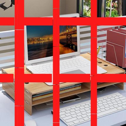 护颈笔记本电脑显示器屏增高架支架办公室桌面收纳盒键盘置物架子