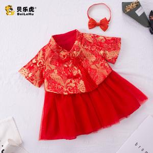 夏季女童连衣裙一周岁生日小女孩礼服裙子夏装女宝宝公主裙超洋气