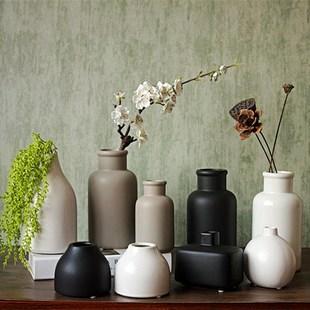 淡?#30424;找?#24178;花束圆形中式欧式餐桌花瓶花束摆件玫瑰青花饰品桌面