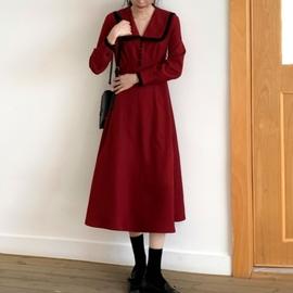 大码法式复古连衣裙胖妹妹春款可甜仙女衣服流行中长款打底裙气质图片