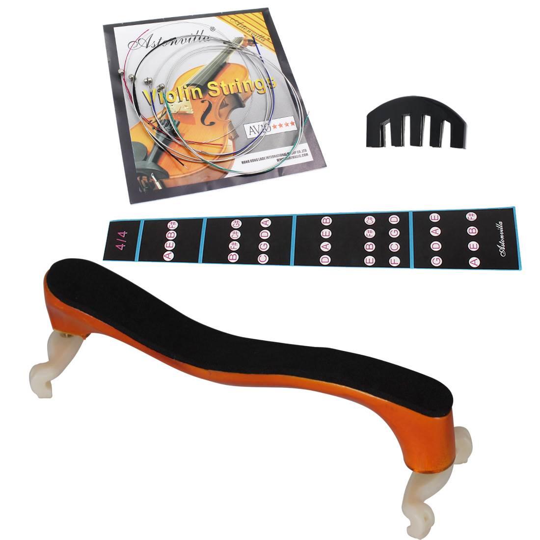 Manufacturers violin four piece set of five claw microphone av10 string fingerboard 4 / 4 violin shoulder bracket