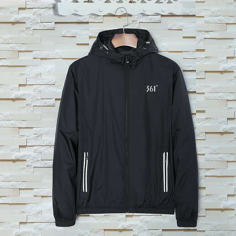 Coat mens spring and autumn new sports windbreaker long sleeve loose casual jacket double layer breathable hooded thin jacket jacket jacket