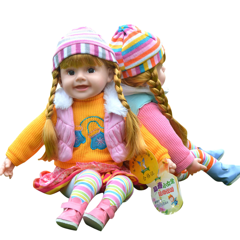 Children's Talking Dolls Intelligent Dialogue Singing Dolls Silica Gel Touch Voice Control Girl Toys