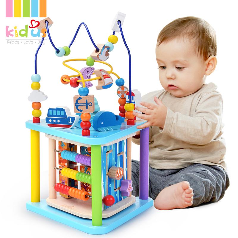 Kidus 一岁宝宝玩具1-2-3周岁绕珠百宝箱男女孩婴儿儿童早教益智,可领取10元天猫优惠券