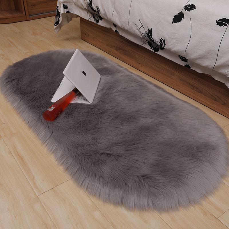 嘉豪卧室床边毯白色长毛绒床前毛毯质量如何