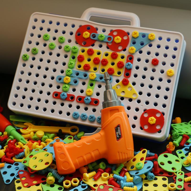 儿童工具箱拧螺丝钉玩具益智螺母