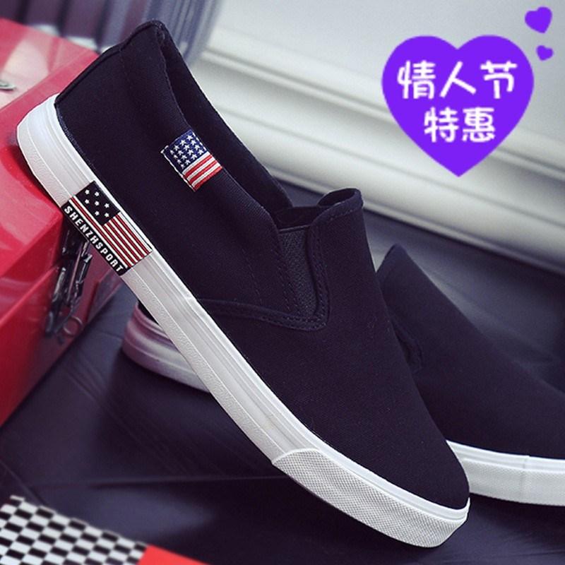 Simple cloth shoes in autumn mens clothes lazy shoes mens canvas shoes without shoelaces