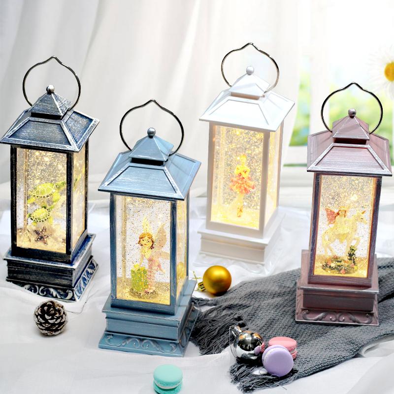 (用5元券)抖音雪花风灯摆件音乐盒浪漫水晶球生日礼物送女生创意装饰品摆件