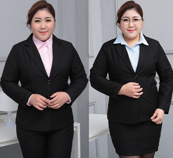New 2020 new fattening increase 200 kg fat mm oversize female suit suit interview professional suit