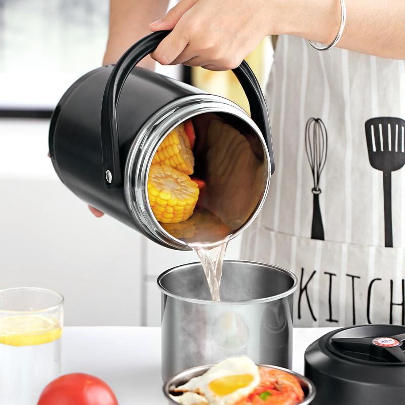 热卖的 多层超长保温桶饭盒便携上班族304不锈钢大容量小型装汤壶