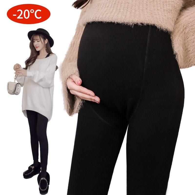 孕妇秋冬加绒无缝托腹裤冬款打底裤