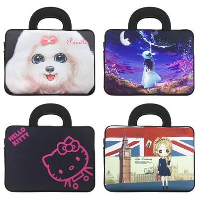 平板包包手提可爱适用双层保护袋全面屏复古多功能黑色韩版书包
