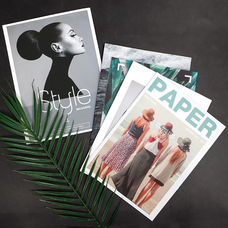 拍照道具ins杂志书 英文欧美时尚画册摆件网红美甲装饰摄影背景纸