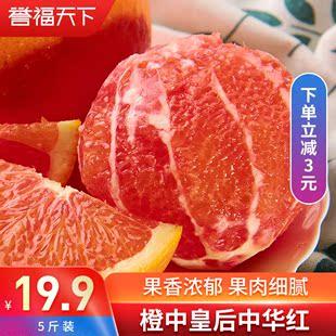 现摘秭归脐橙中华红血橙红橙红肉脐橙5斤包邮红橙孕妇新鲜水果10