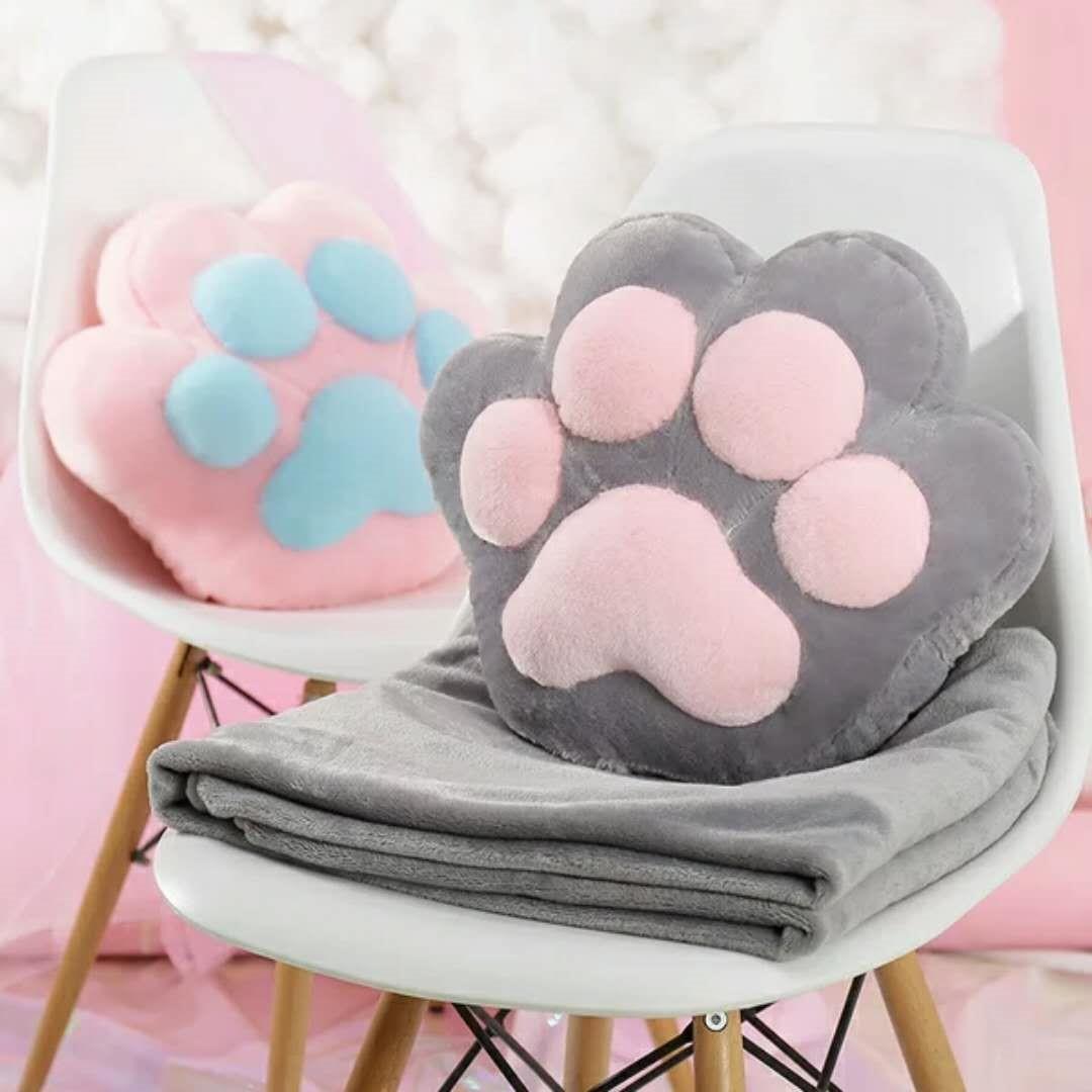 券后22.77元可爱猫爪抱枕被子两用靠垫汽车办公室空调被午睡枕头午休毯子腰靠