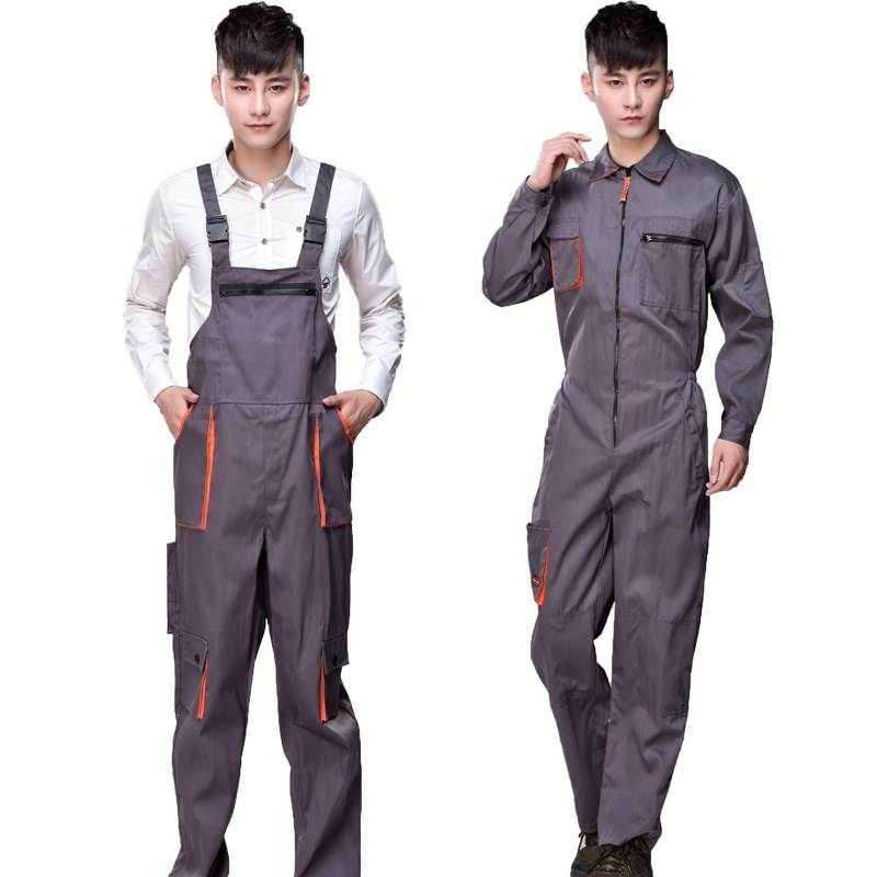 New style mens suspender Jumpsuit pants trendy big pocket work clothes suspenders mens straight pants