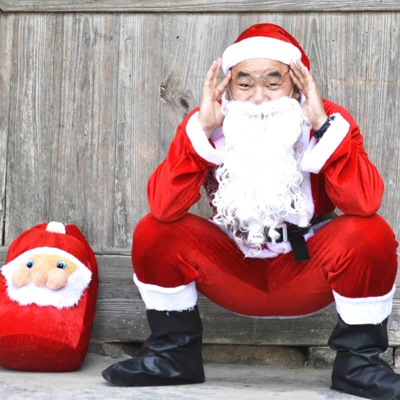 男士男女士年会舞会道具圣诞老人服饰圣诞节衣商场女孩老爷