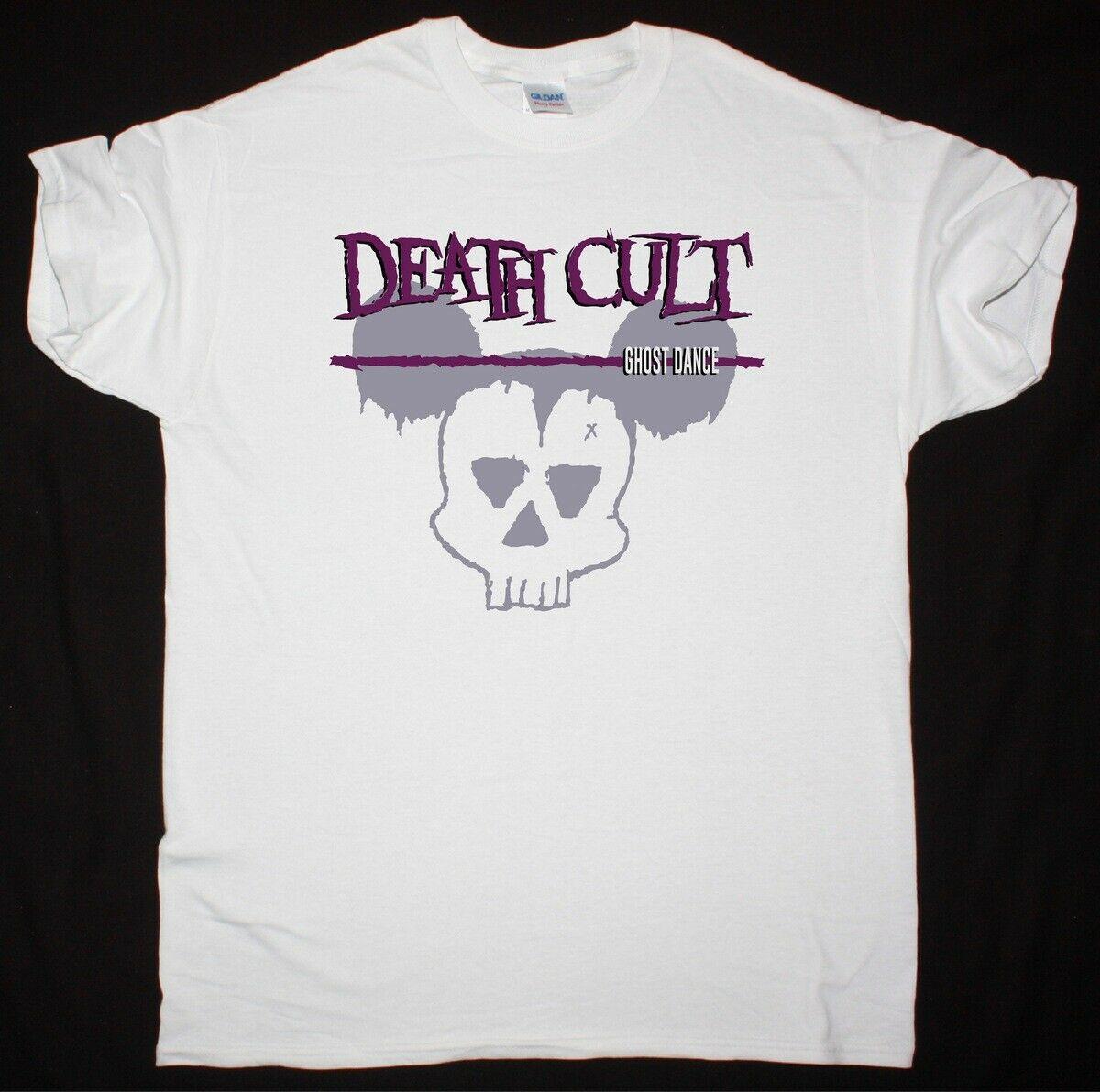 死亡 Cult Ghost 舞蹈白色 T恤 的 cult 哥特式岩石后朋克短袖