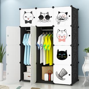衣柜简易儿童组装现代简约布艺出租房用卧室家用挂布衣橱收纳柜子图片