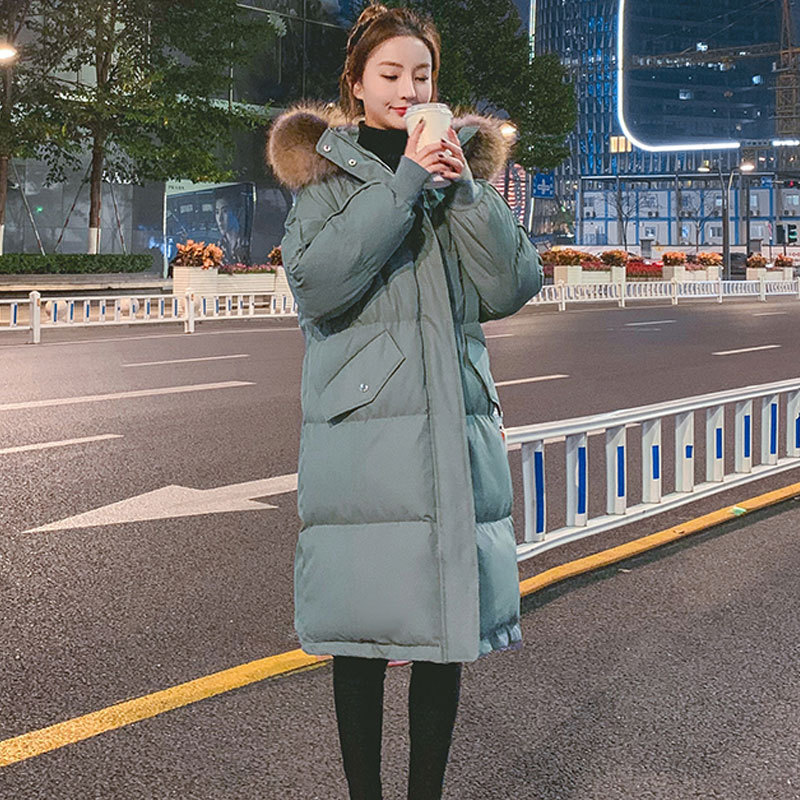 Winter coat 2020 new loose cotton padded jacket womens middle and long thickened student down cotton padded jacket