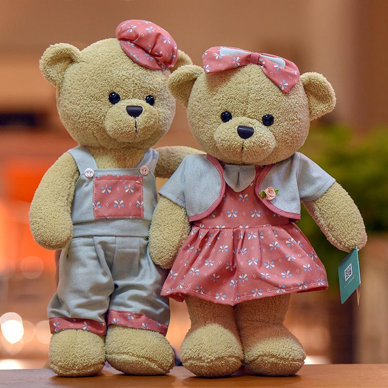 情人节送女友生日礼物情侣泰迪熊毛绒玩具公仔儿童玩偶抱抱熊娃娃11-30新券