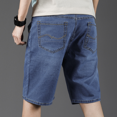 Half length pant, thin mens shorts, fat pants, Dad jeans, middle-aged and old mens wear width in summer