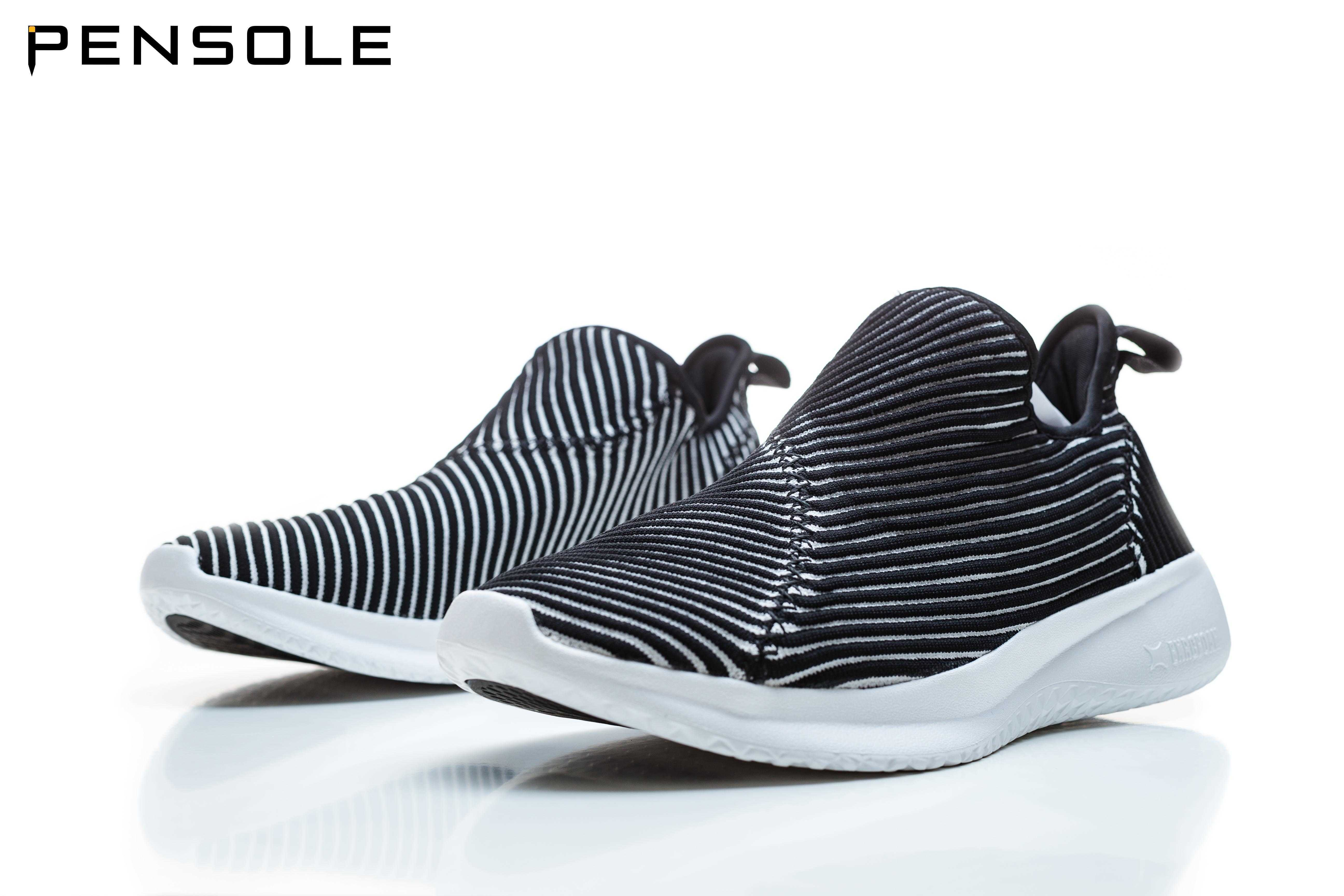 PENSOLE mens one foot casual shoes black spring and autumn mens and womens running shoes lazy shoes breathable mesh shoes