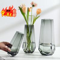 北欧简约创意玻璃透明干花网红花器评价好不好