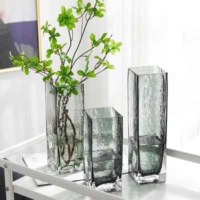北欧吊钟植物玻璃花瓶马醉木透明水养创意简约网红插干花摆件客厅