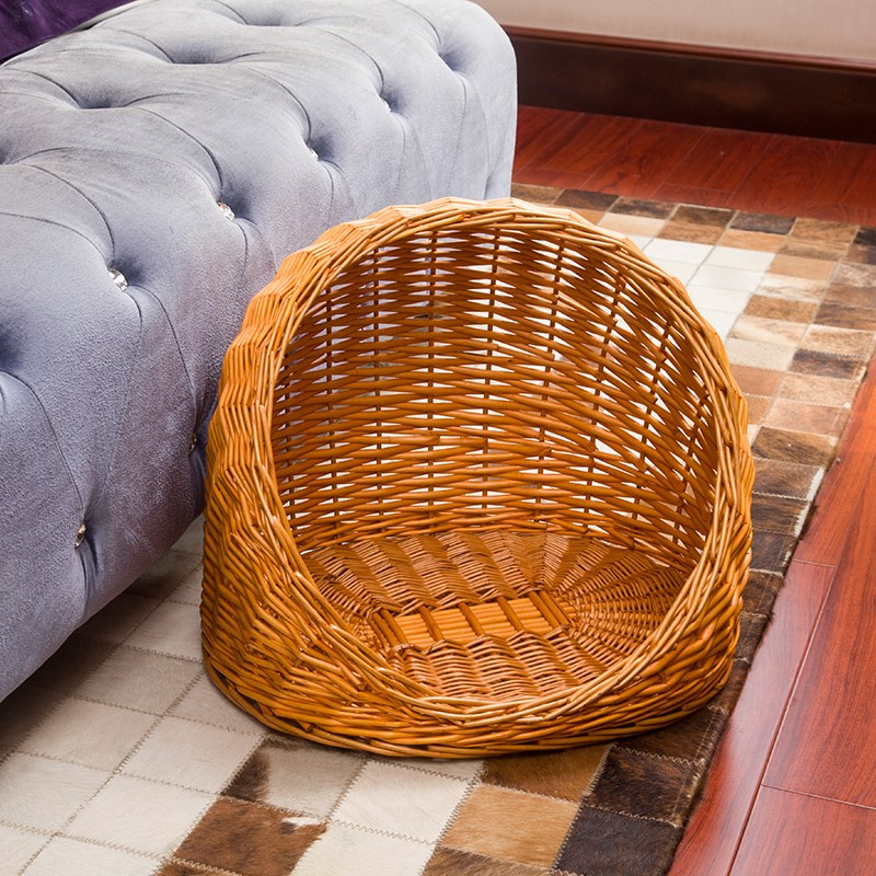 Cats nest rattan warm in winter four seasons general dogs nest stray cat house cat house villa small dogs nest can be removed and cleaned