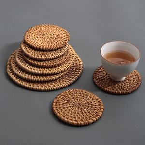 咔咔龙手工越南藤编茶杯子隔热托餐桌盘碗壶垫茶道零配件功夫茶具