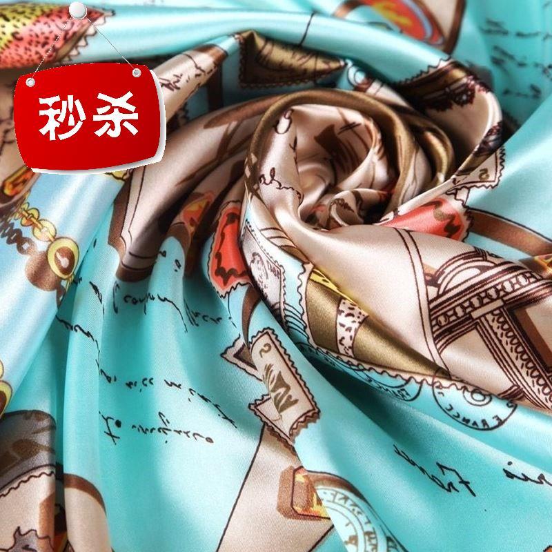 新正方形のスカーフマフラー女性春秋U夏百掛の薄い2018沙巾ビーチ