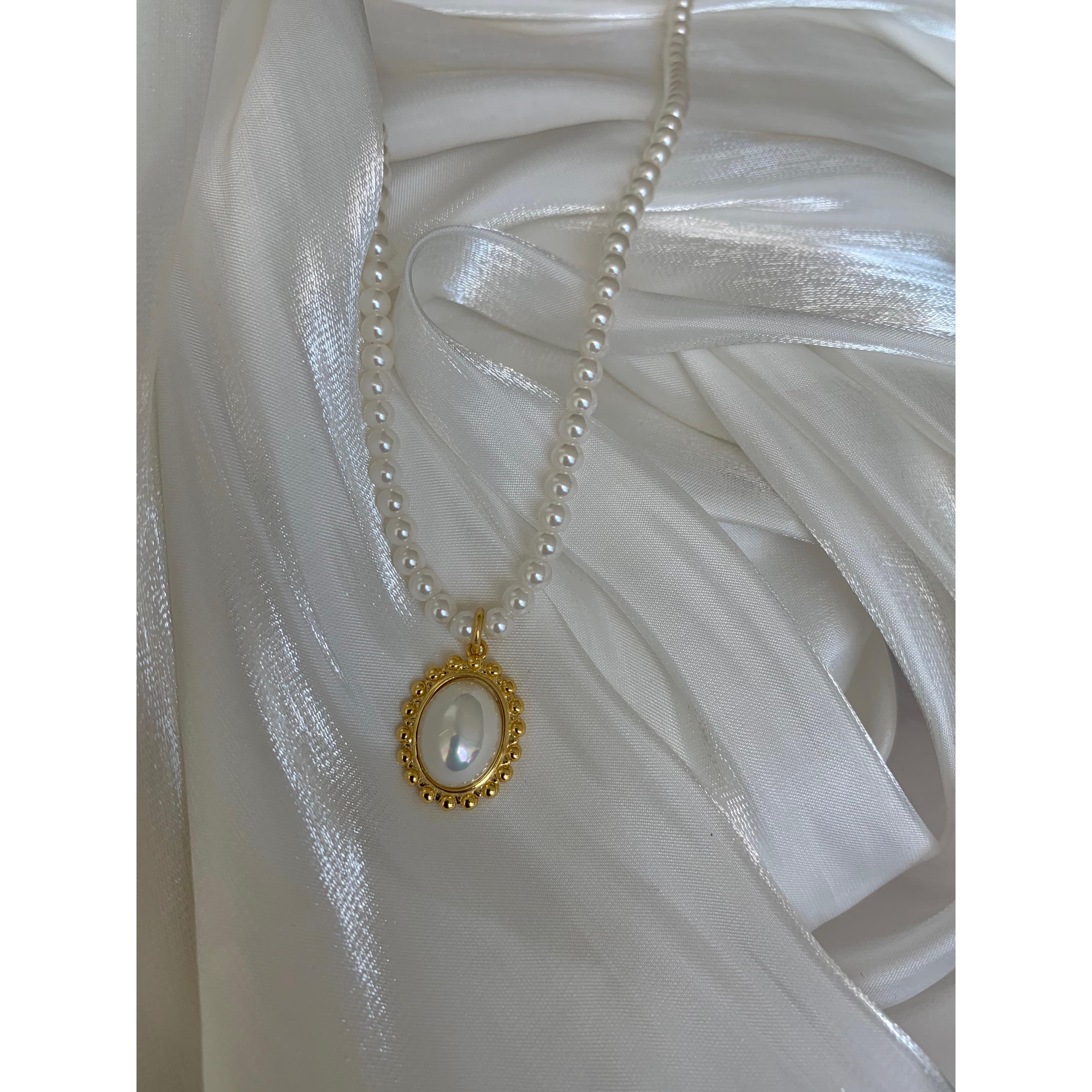 【鹭青一ACC】复古宫廷 高品质纯天然珍珠 铜镀18K金项链
