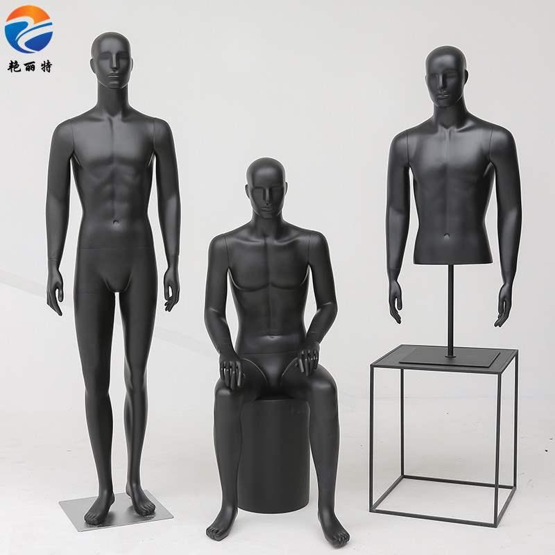 个性五官头服装模特道具店男全身哑光陈列西装休闲玻璃钢人台展示