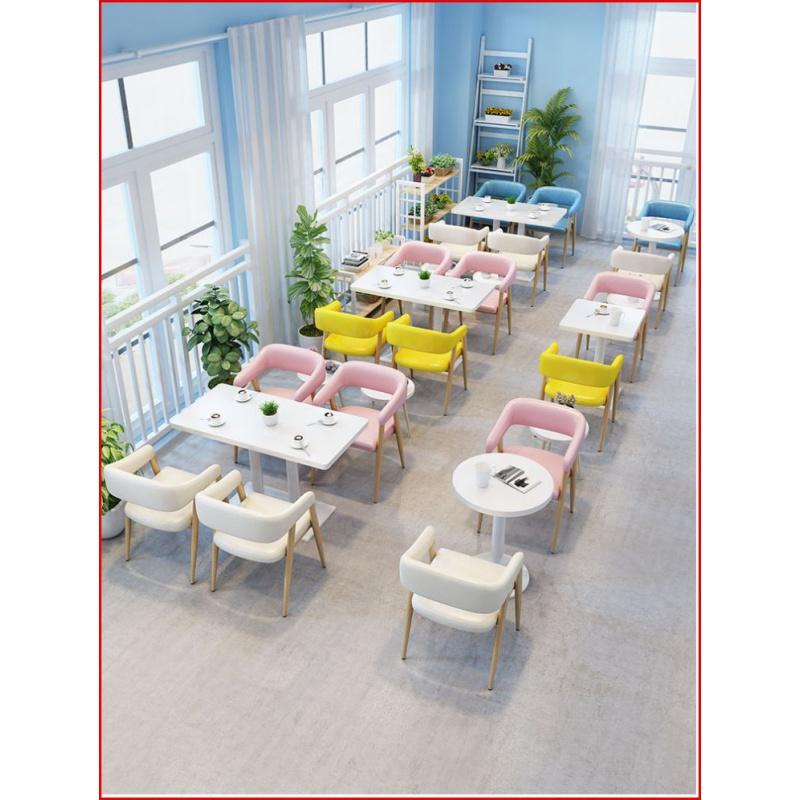 简约网红奶茶店饮品甜品咖啡厅清新寿司店餐饮店卡座沙发桌椅组合