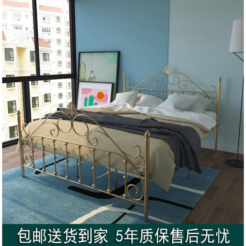 (用15元券)复式二楼现代简约铁艺单人床