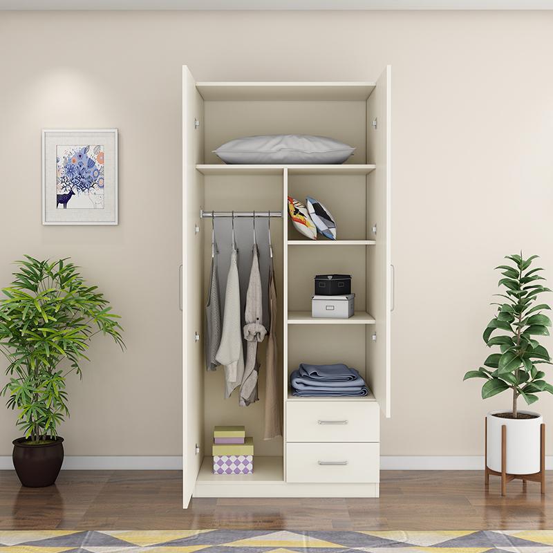 10月19日最新优惠两门实木2门简约现代经济型衣柜