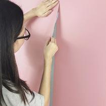 纯色蚕丝pvc卧室温馨壁纸贴纸自贴素色加厚宿舍女墙纸自粘儿童房