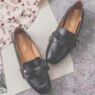 2019新款平底小皮鞋百搭网红鞋子