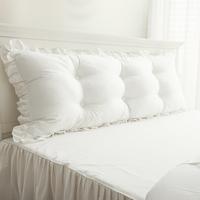 韩版床上大纯棉双人长韩式床头抱枕使用评测分享
