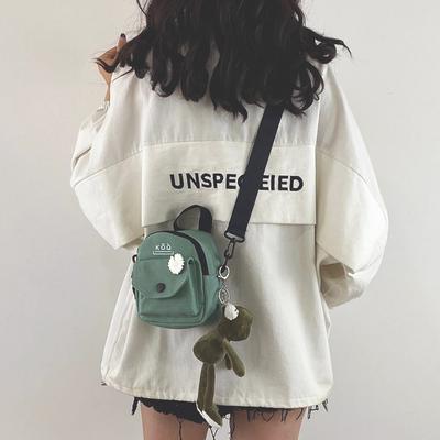 少女小包包女包新款2021潮韩版百搭原宿学生单肩斜挎包时尚帆布包