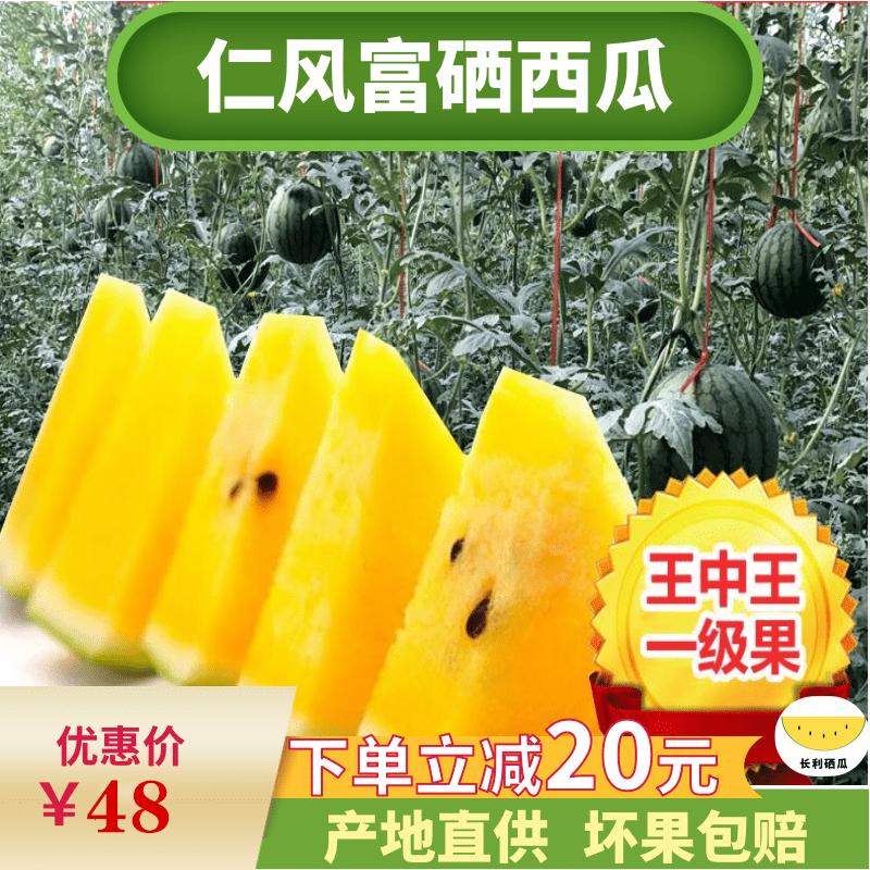 黄心西瓜2枚装当季水果新鲜应季黄肉薄皮孕妇可吃仁风富硒西瓜
