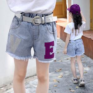 2020新款女童短裤牛仔夏季薄款外穿宽松裤子中大童休闲弹力短裤潮