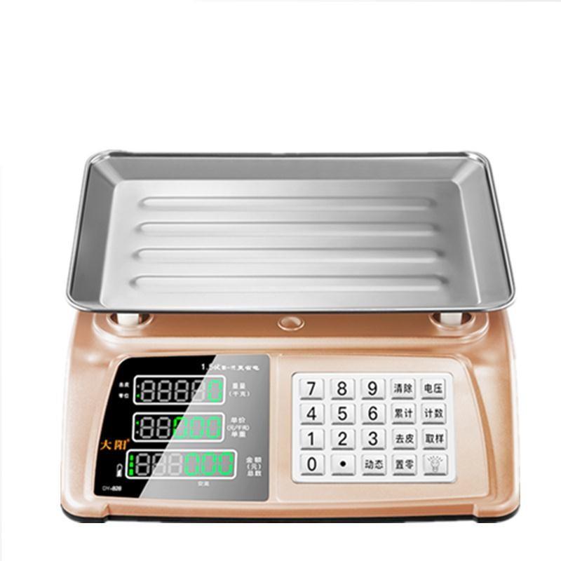 大阳电子台秤商用磅30kg市场称重卖菜水果家用高精度小型商业台称,可领取元淘宝优惠券