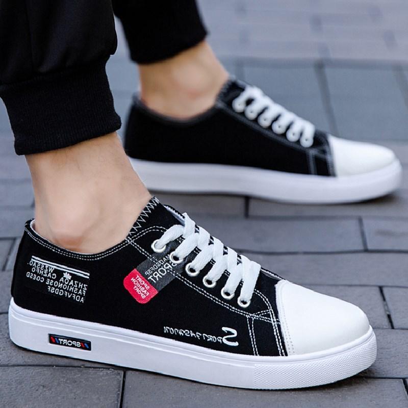 タオバオ仕入れ代行-ibuy99 男士鞋子 低帮潮鞋帆布鞋2021新款春季潮流休闲鞋透气平底板鞋百搭男士鞋子